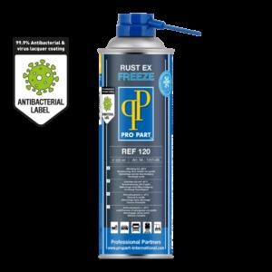 Rust Ex Freeze Anti Bacterial Label